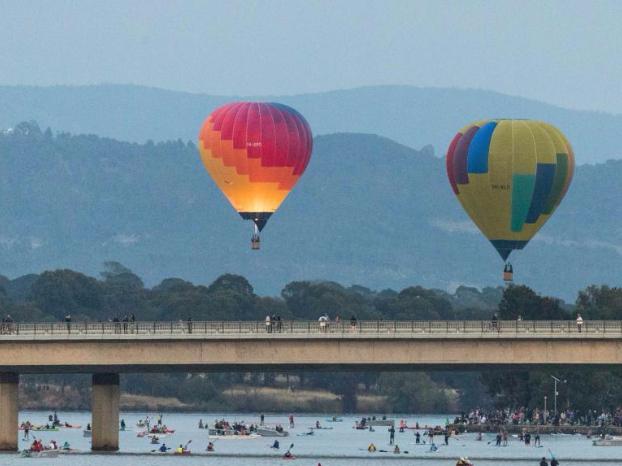 Annual Canberra Balloon Spectacular festival held in Australia