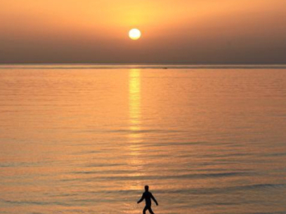 View of sunset in Beirut, Lebanon