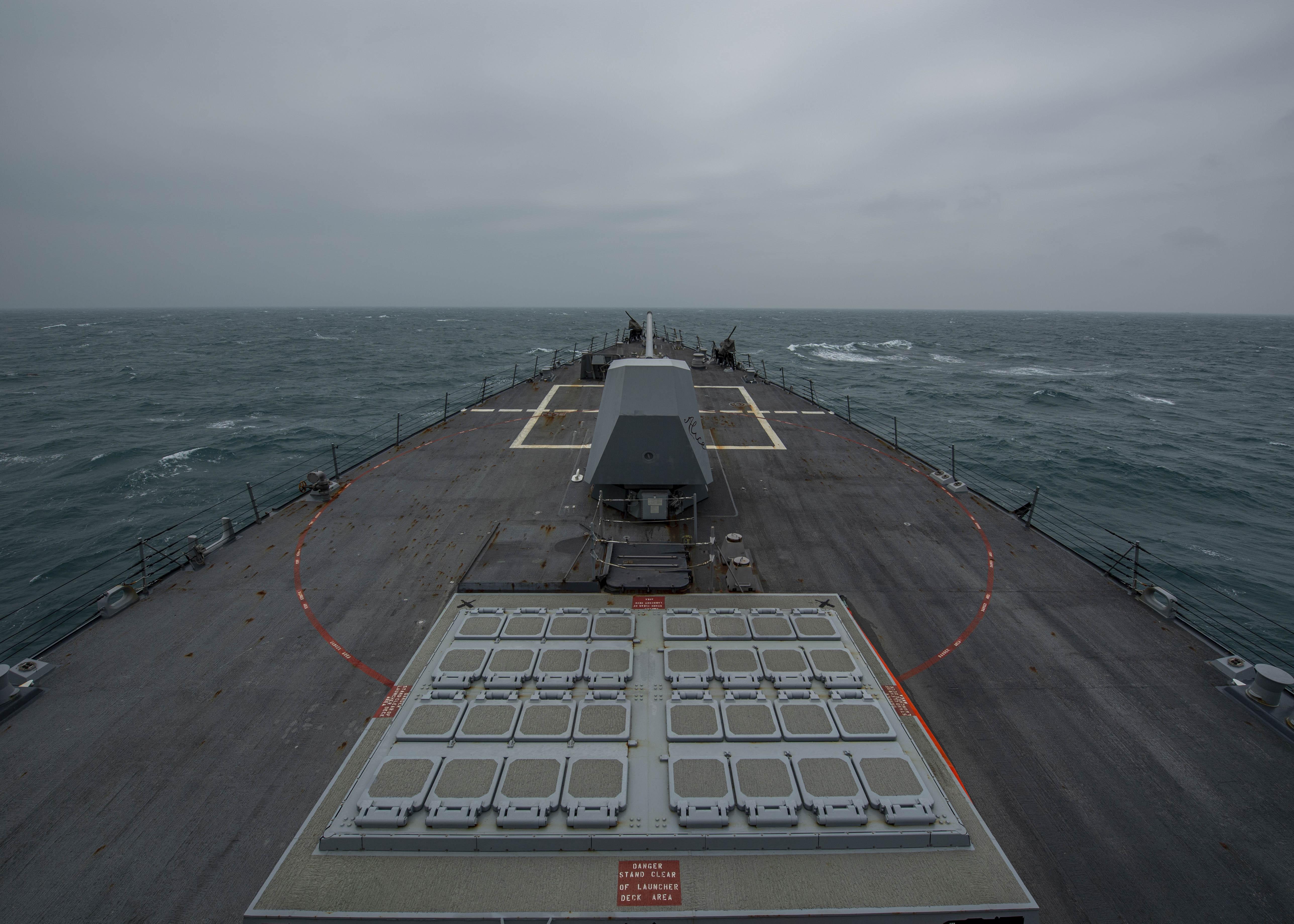 PLA monitors US warship in Taiwan Strait: spokesperson