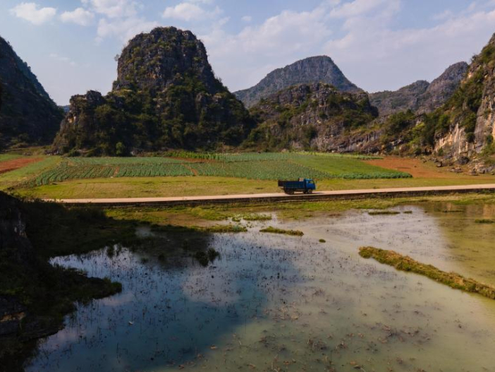 Scenery at Puzhehei national wetland park in Yunnan
