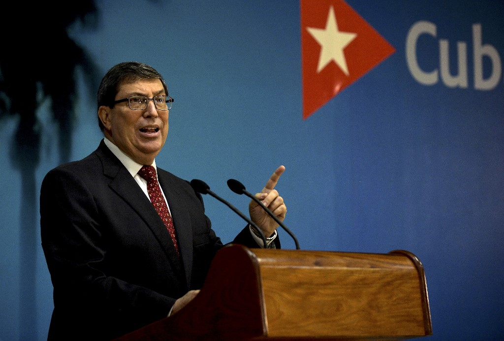 Cuban FM voices rejection of foreign interference in China's internal affairs