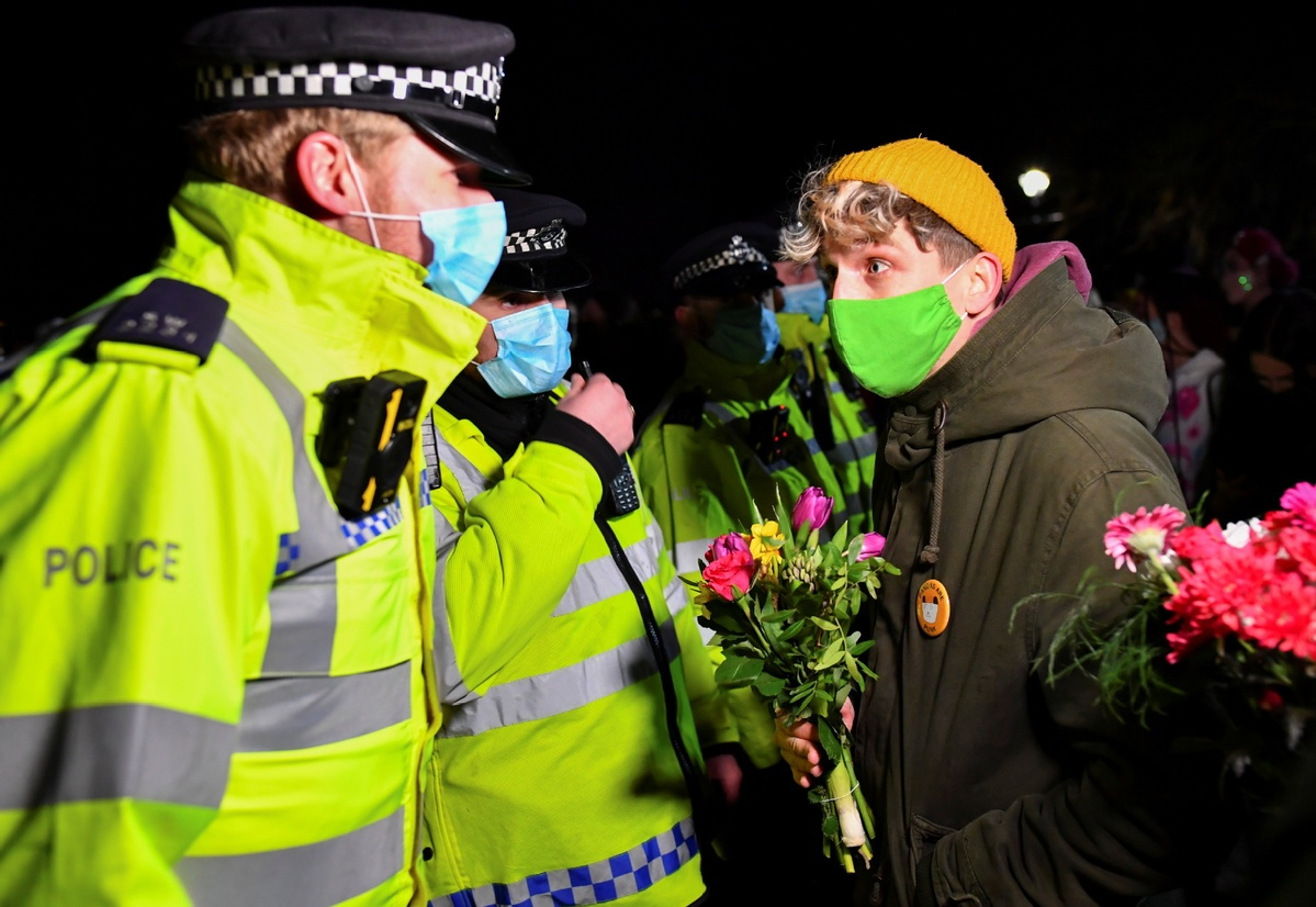 London police criticised for clashes at vigil for murdered woman