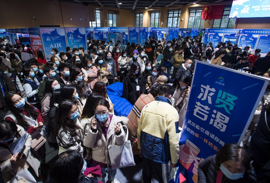China's surveyed urban unemployment rate drops in February