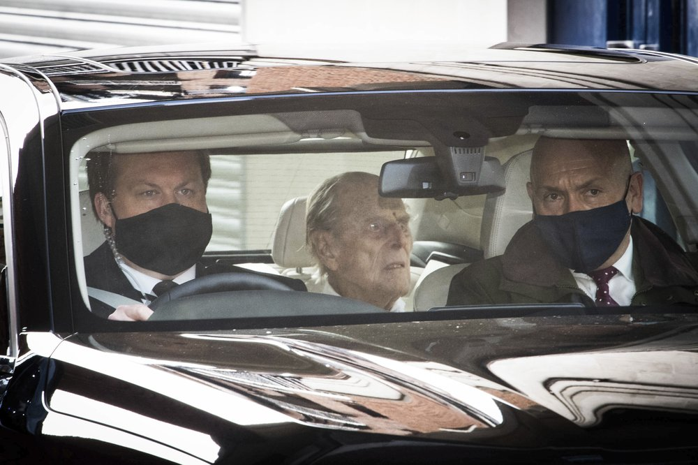 Britain's Prince Philip returns home after treatment