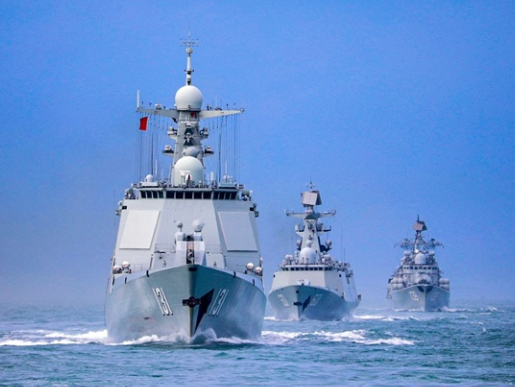 China holds naval drills in three maritime areas amid US military threats