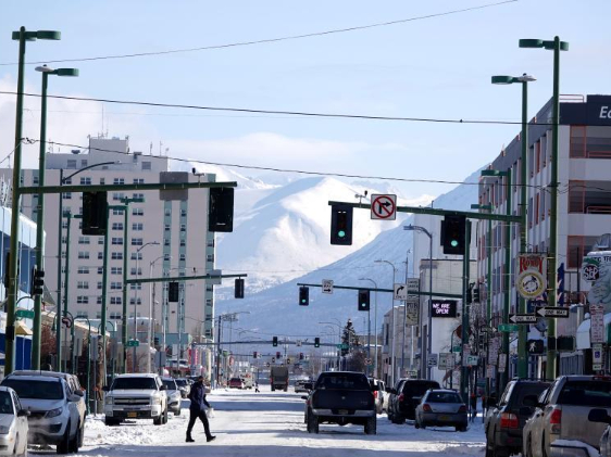 City view of Anchorage, Alaska