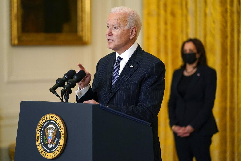 Biden says US to hit 100 million virus goal on Friday