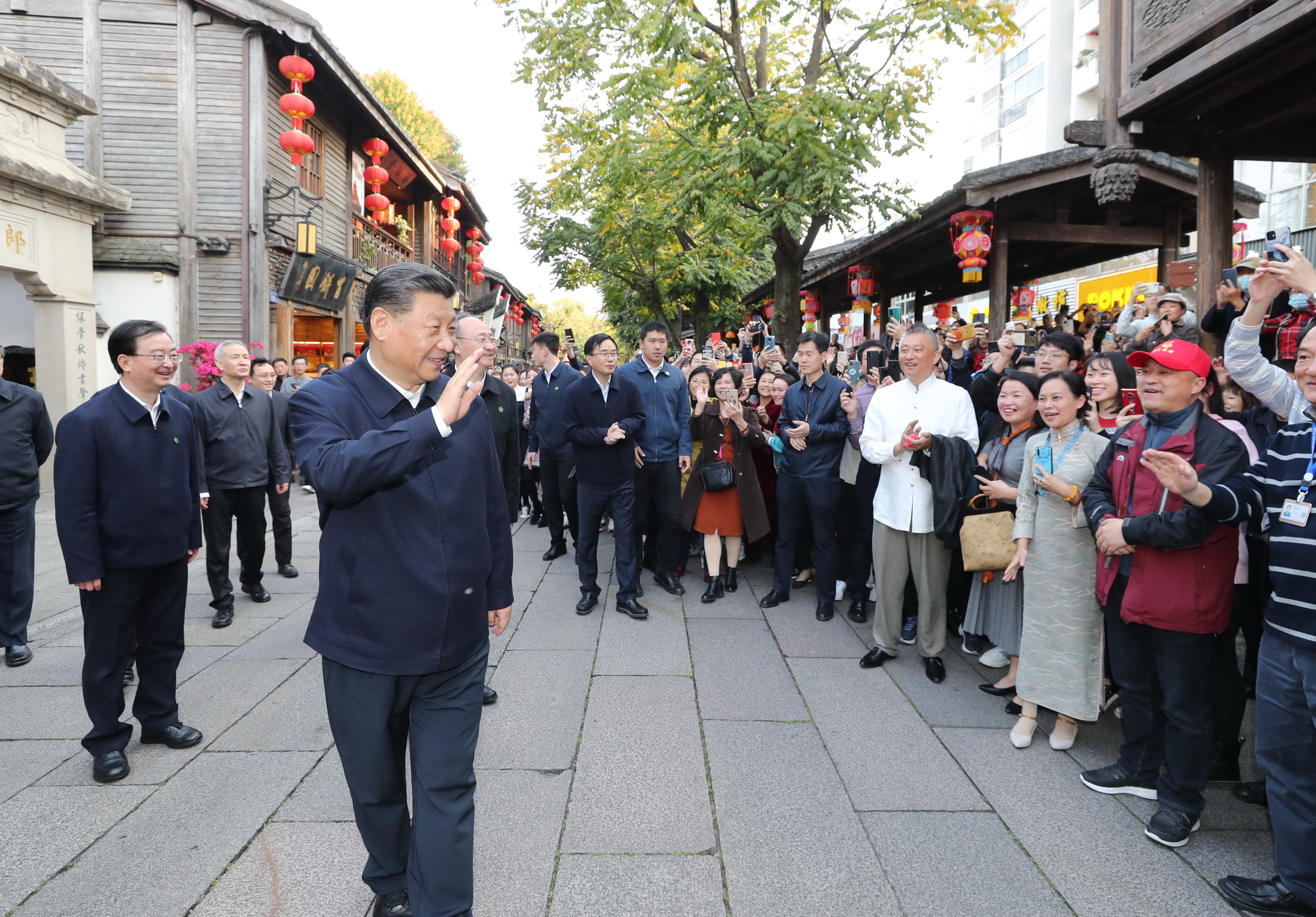 Xi in east China's Fuzhou for inspection