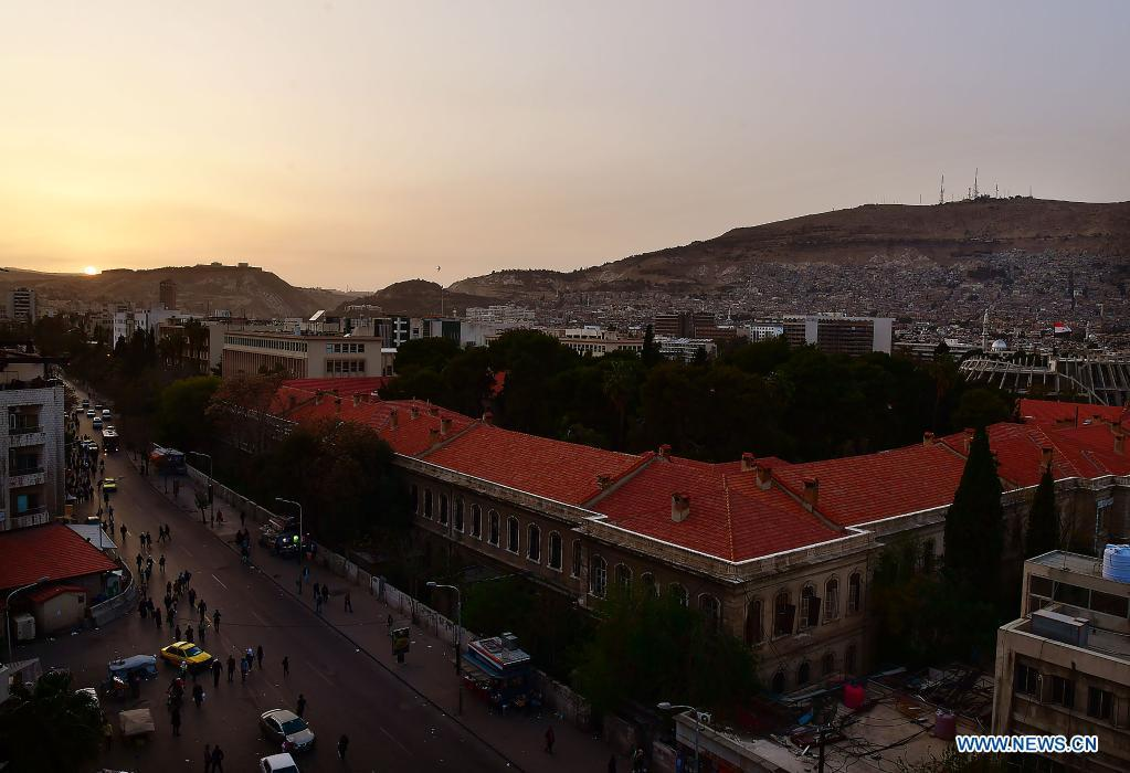 Sunset scenery in Damascus, Syria