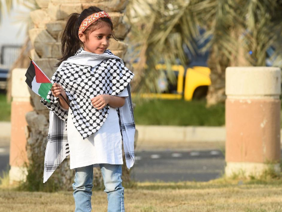 People hold rally to support Palestinians in Kuwait City