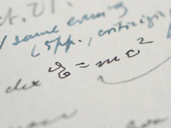 Einstein handwritten letter with equation fetches $1.2 mln