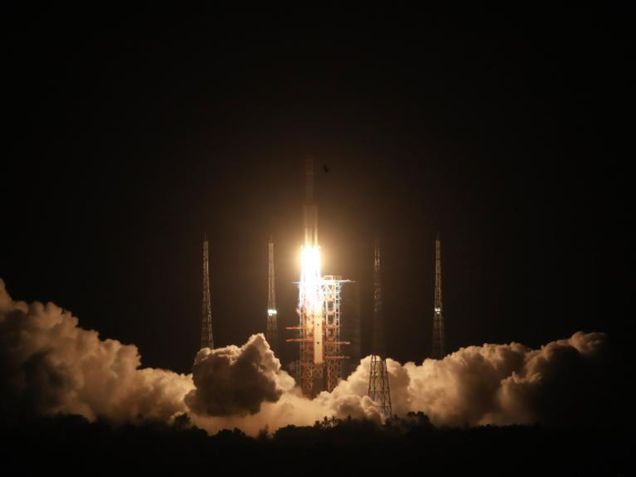 China launches cargo spacecraft to dock with space station module