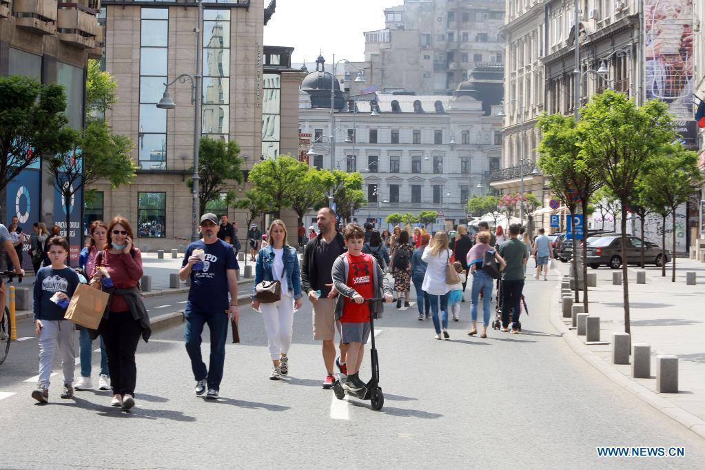 COVID-19 easing in Bucharest, Romania