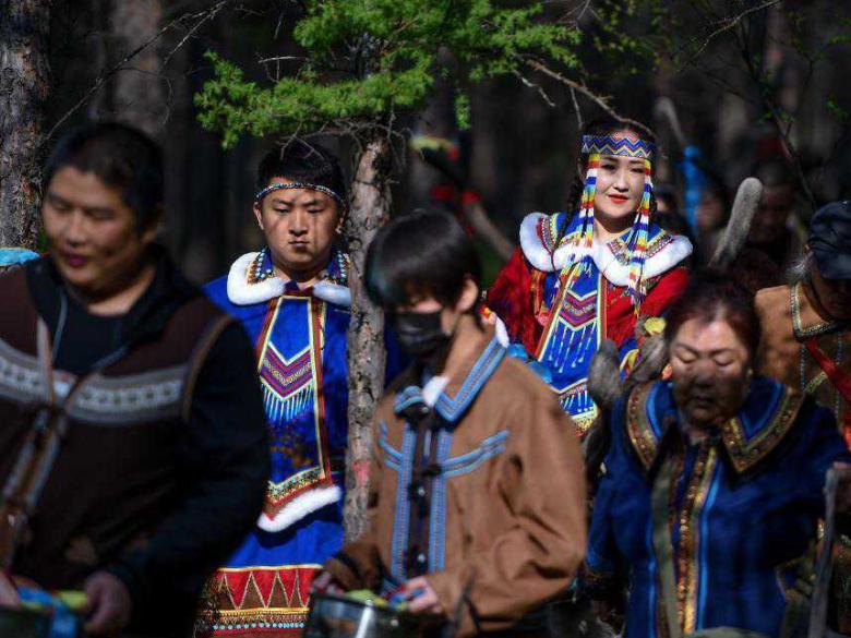 Local Ewenki ethnic group holds traditional wedding in Aoluguya, Inner Mongolia