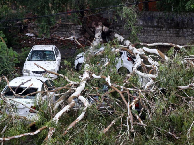 Aftermath of heavy storm in Bhopal, India