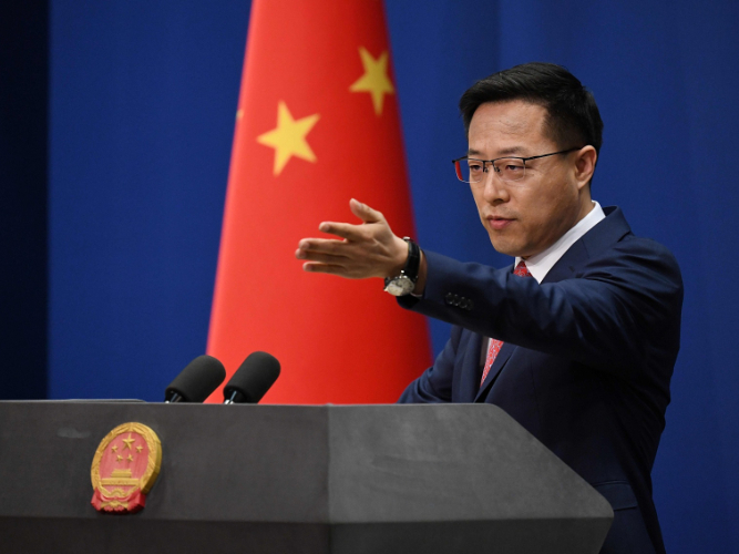 China firmly opposes interferences in internal affairs by US, EU: spokesperson