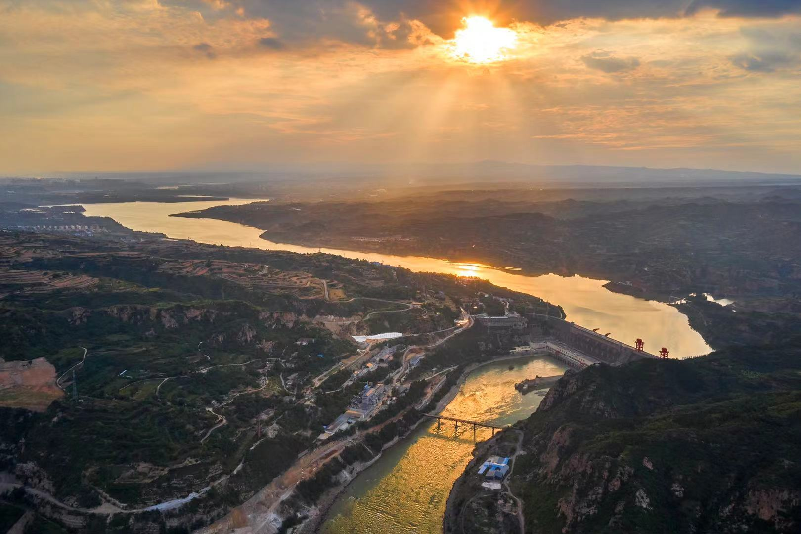 Views of the Sanmenxia water control project in Central China's Henan