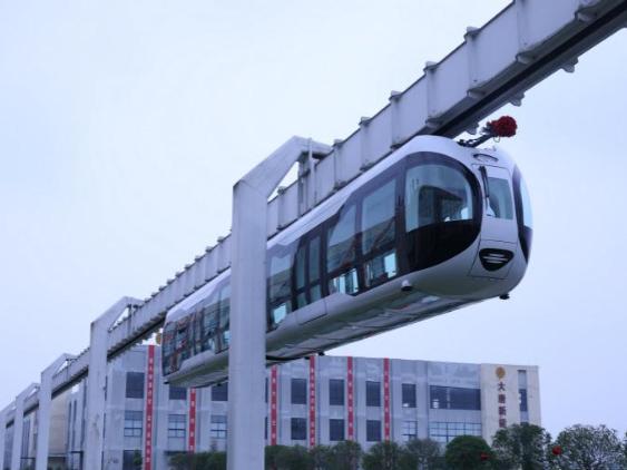"Panda-like ""sky train"" offering panoramic views rolls off production line in Chengdu"