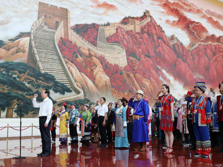 Ethnic groups visit Museum of the Communist Party of China