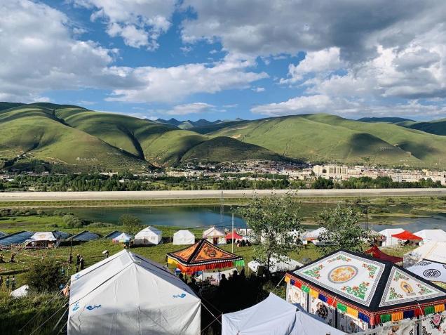 Tibetans celebrate Anba Festival in SW China