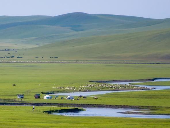 Scenery of Morigele River in Hulun Buir, N China