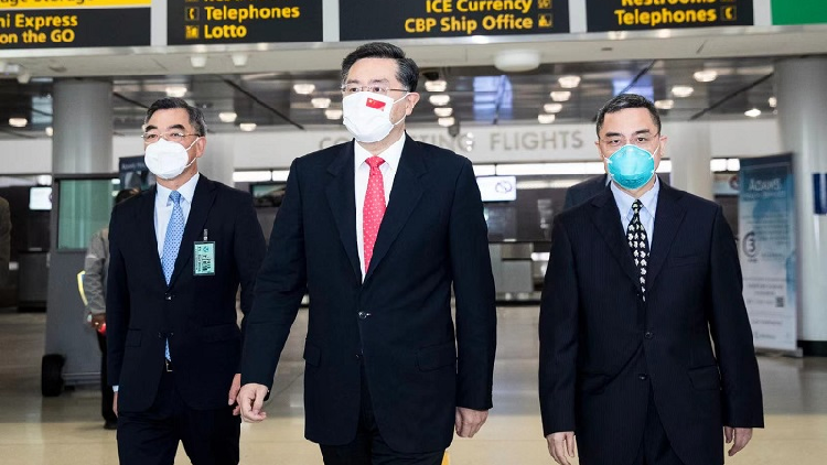 New Chinese Ambassador Qin Gang arrives in US