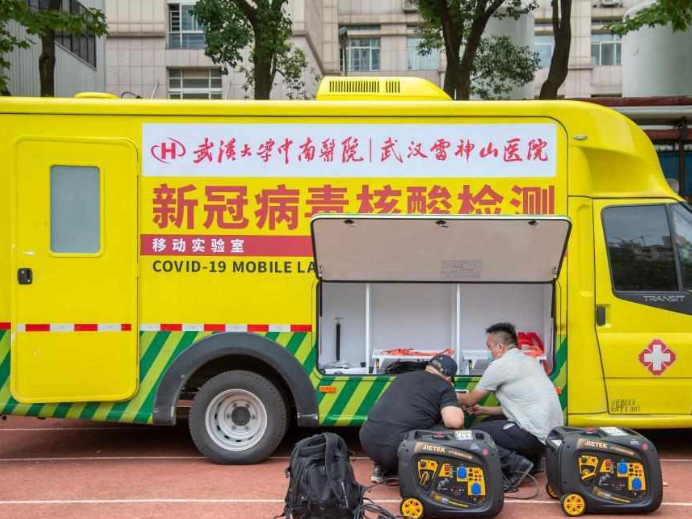 Wuhan launches mobile lab for COVID-19 nucleic acid testing