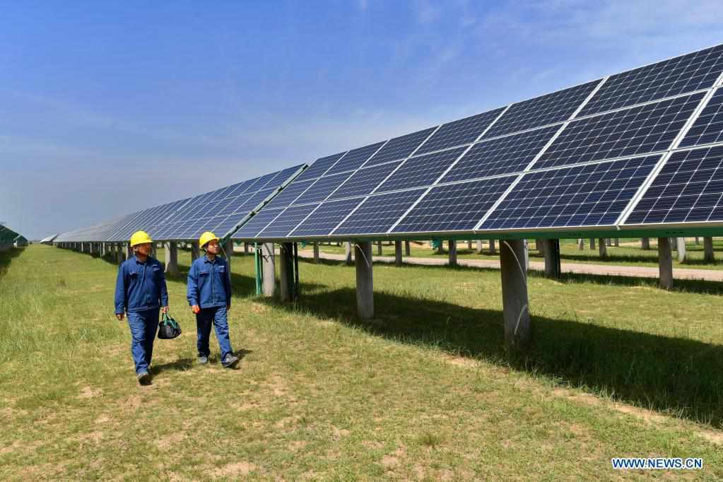 Photovoltaic power station in north China's village