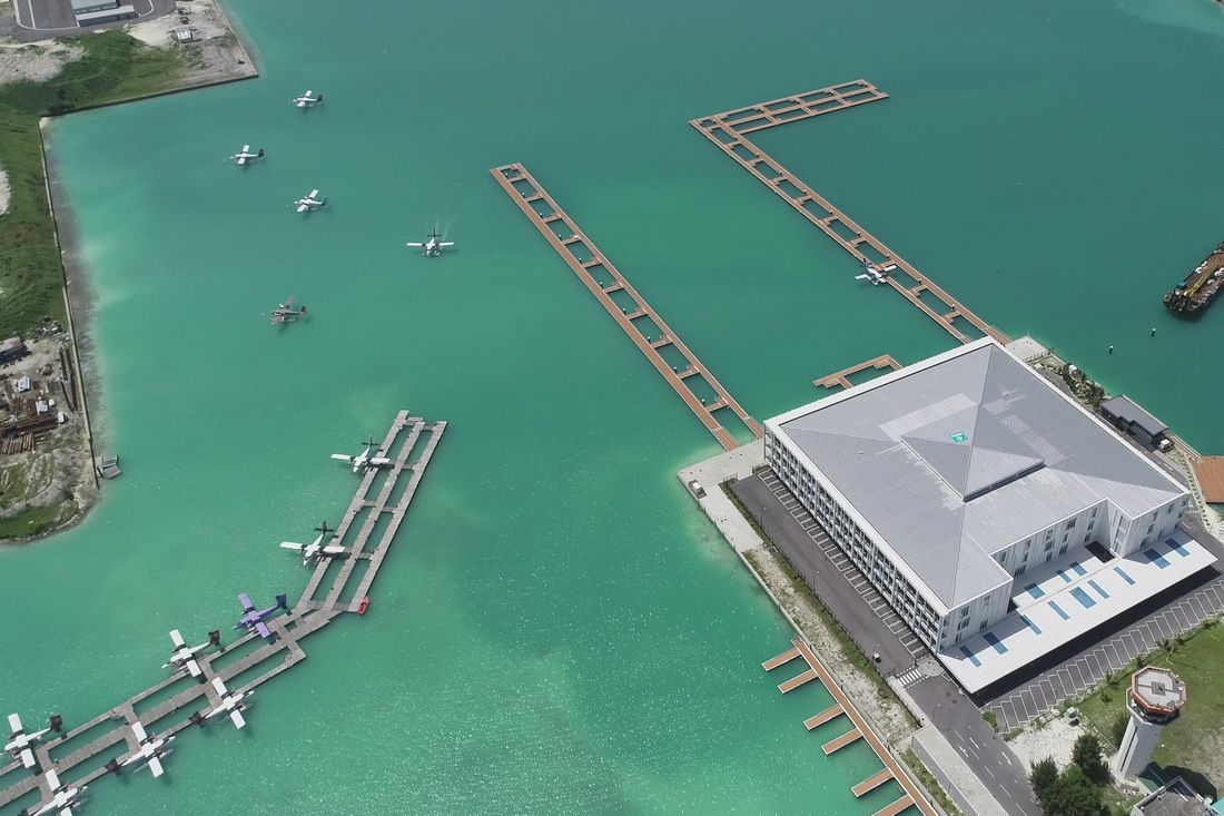 Chinese firm deliversterminal building for airport in Maldives