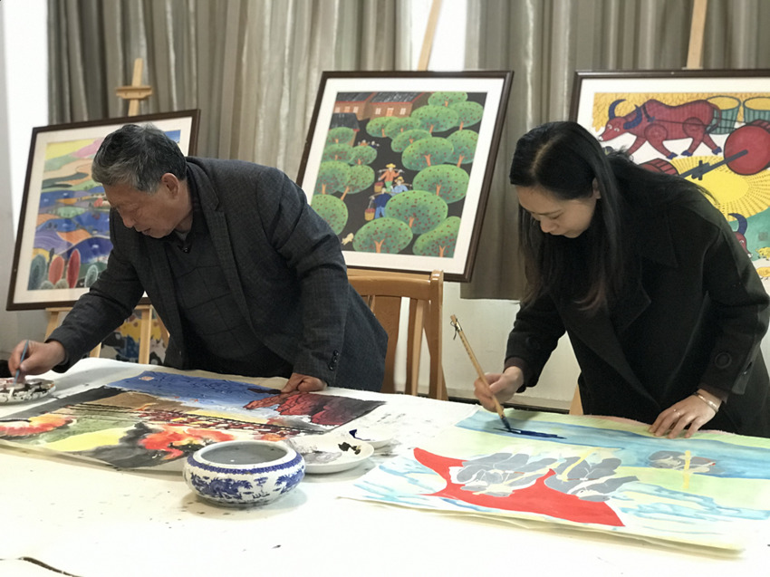 Jingyan farmers' paintings proffer colorful insights into modern Sichuan village life