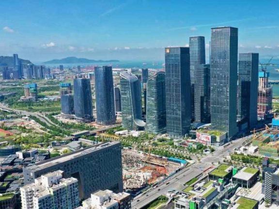 Buildings used for modern service industry in Shenzhen nearing completion