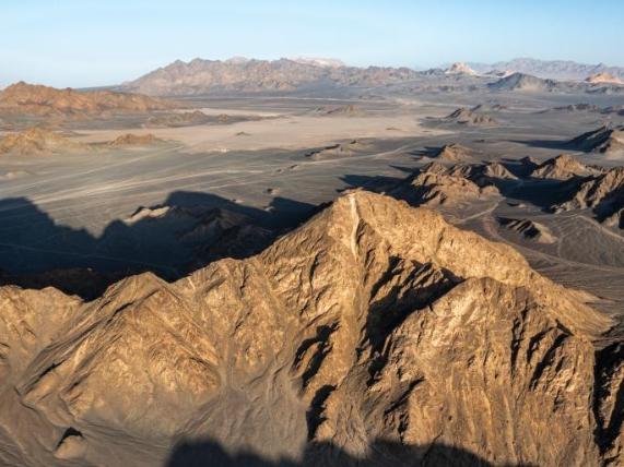 Scenery of Yardang landform in NW China's Qinghai