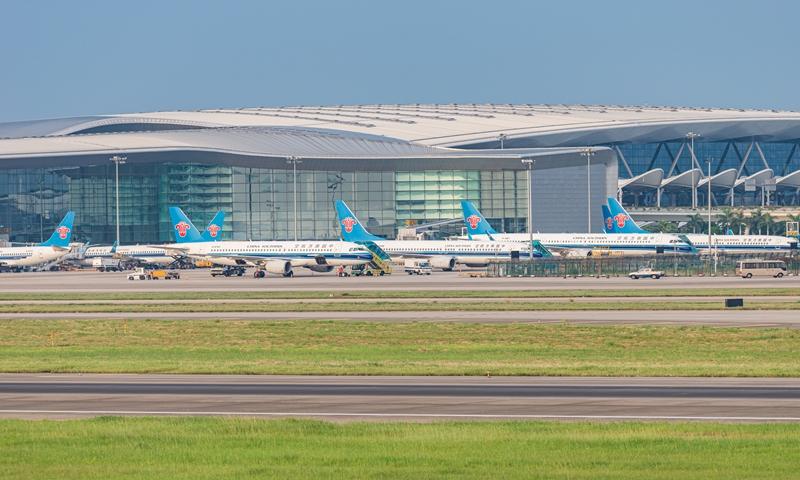 The Guangzhou Baiyun International Airport in Guangzhou, South China's Guangdong Province Photo: VCG