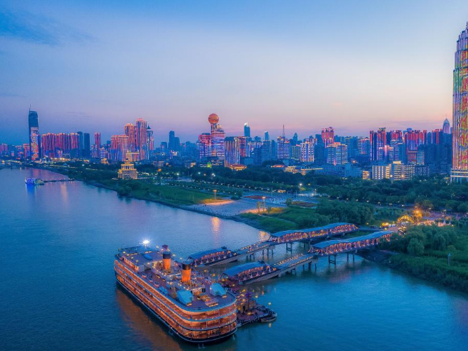 Aerial view of Wuhan, central China