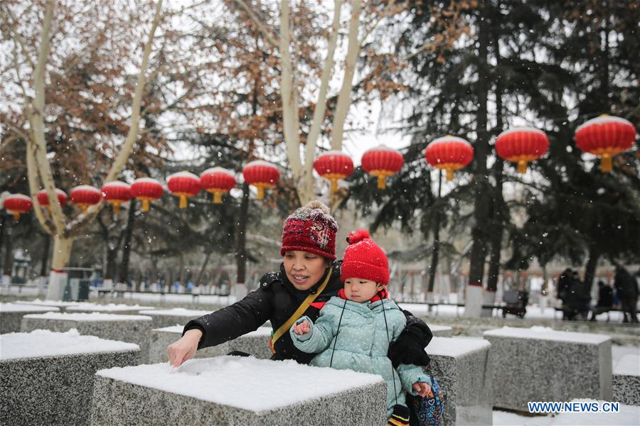 Snow creates special festive atmosphere for China's Shijiazhuang