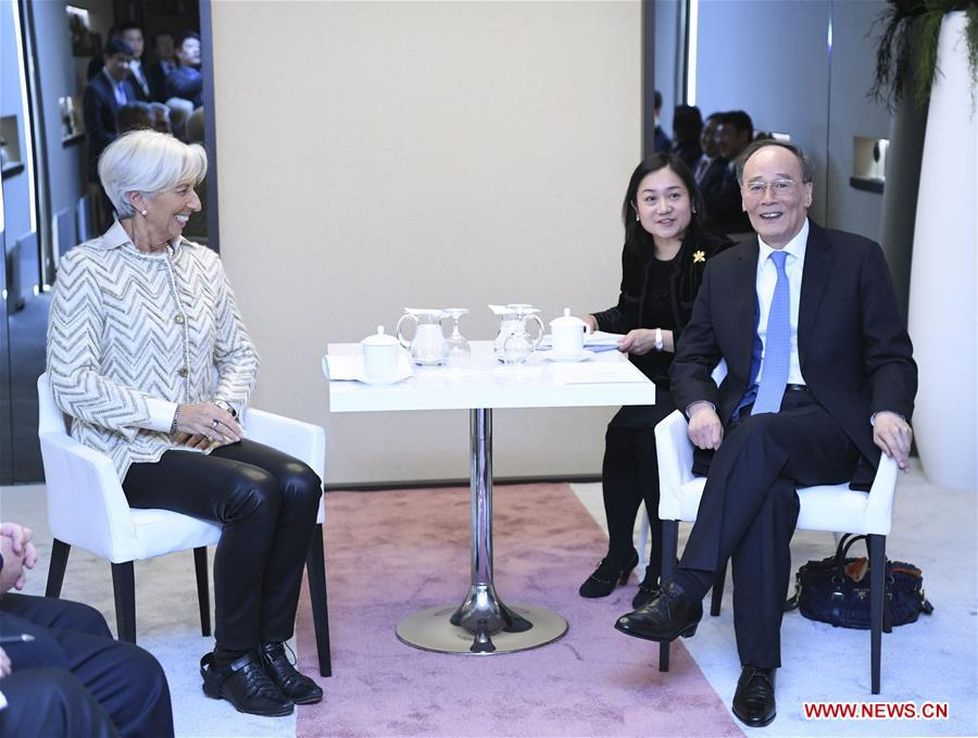 Chinese VP attends 2019 WEF annual meeting in Davos
