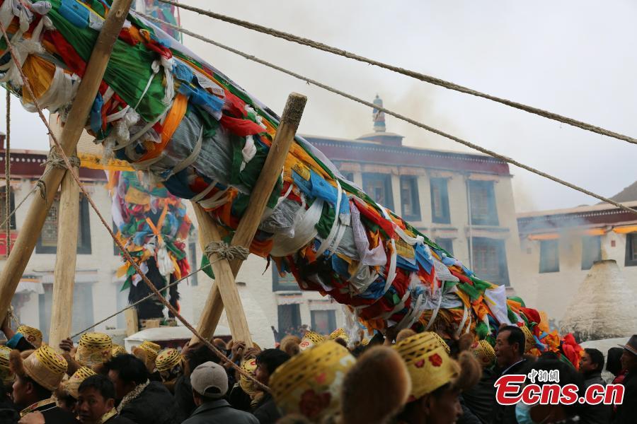 Tibetan New Year celebrations in Samye Monastery
