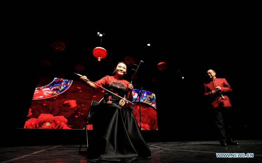 Chinese artists perform for upcoming Spring Festival in Amman, Jordan