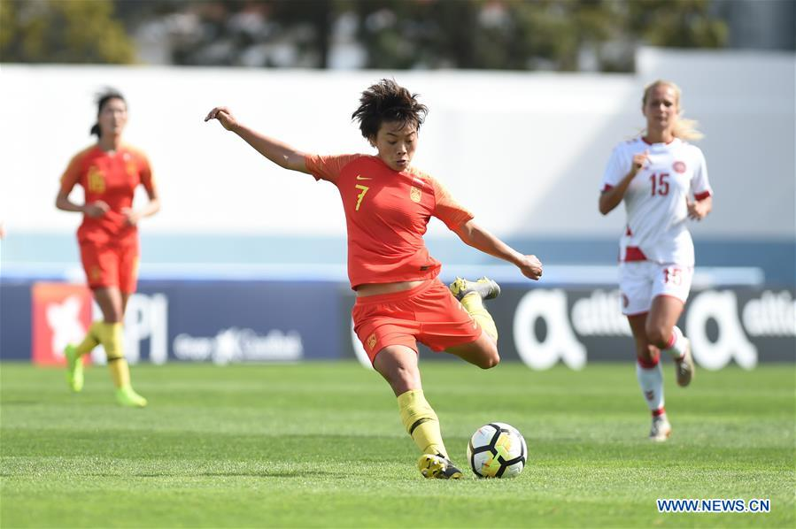 Penalty lifts Denmark past China 1-0 at Algarve Cup