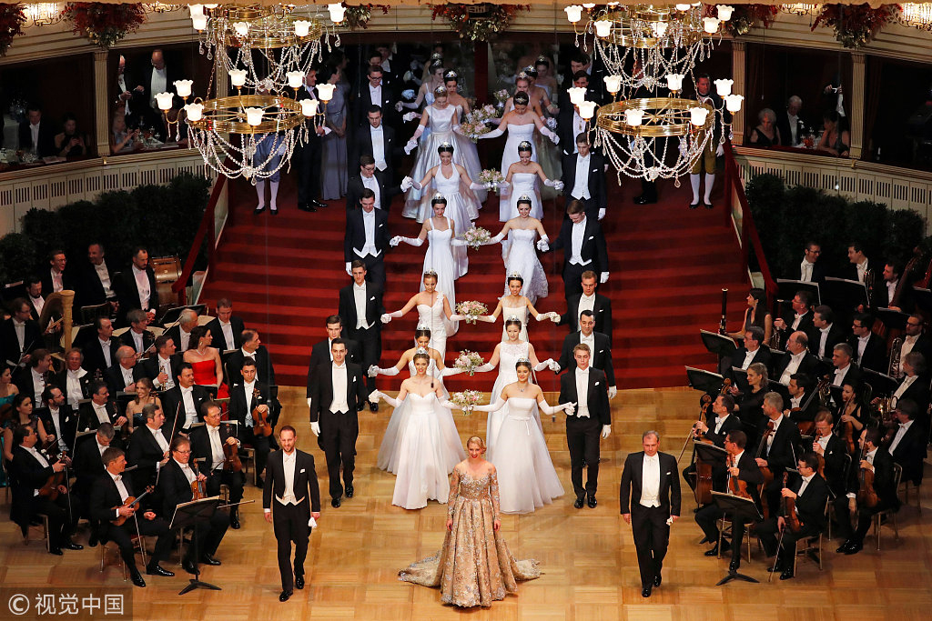 Glamorous opening ceremony of the Opera Ball in Vienna