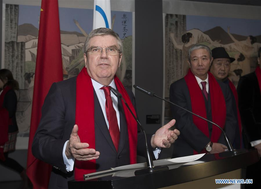 IOC president attends series of China Red Spring Festival in Lausanne, Swizterland