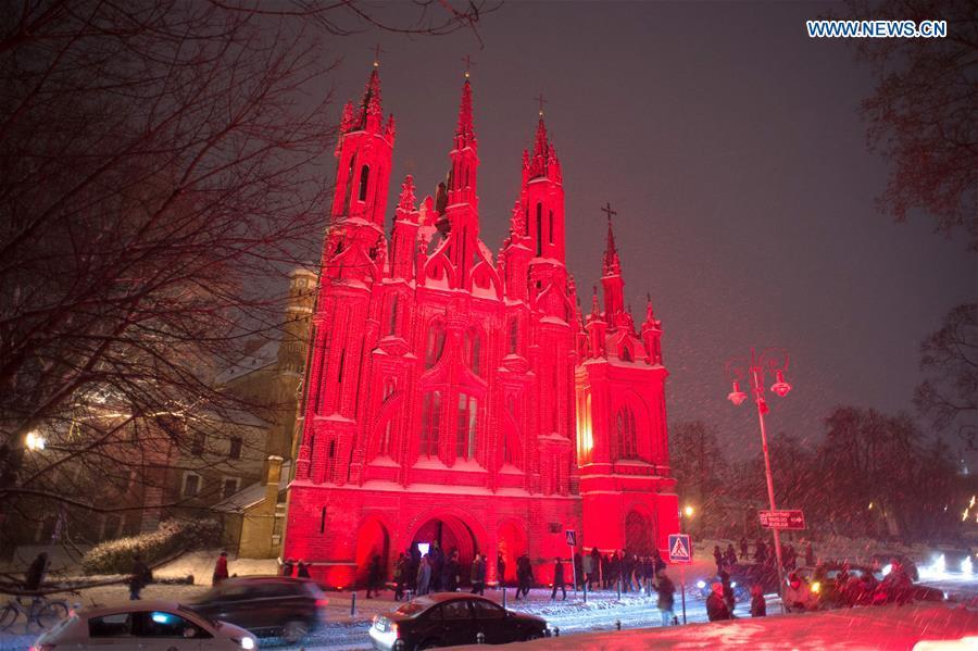 Vilnius Festival of Light held in Lithuania
