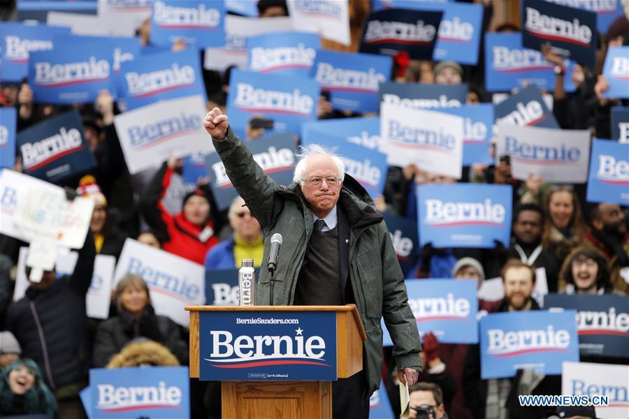 US senator Sanders launches 2020 presidential campaign