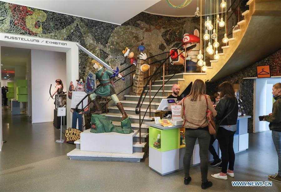 People visit Computer Games Museum Berlin in Germany