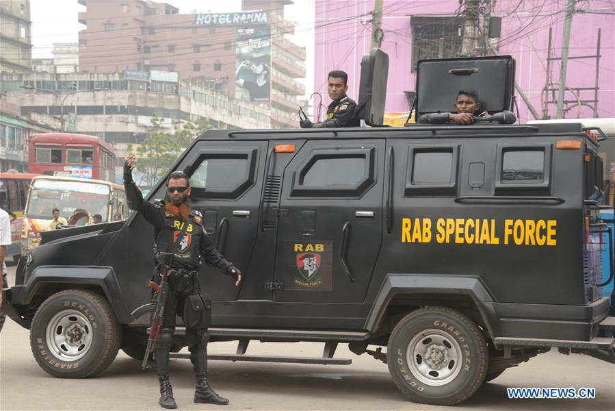 Bangladesh's anti-crime elite force conduct anti-drug campaign in Dhaka