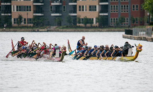 Dragon boat competition held in Dallas, US