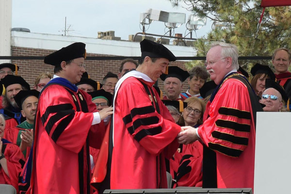 Chinese filmmaker Zhang Yimou receives Boston University honorary degree