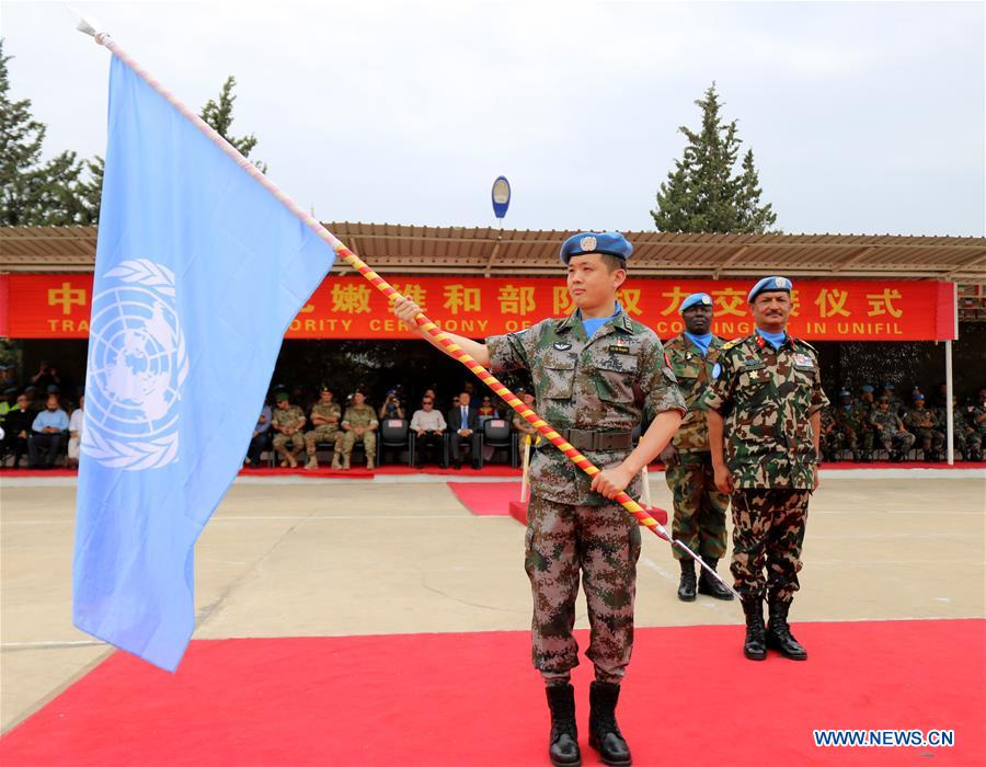 16th Chinese peacekeeping contingent to Lebanon completes authority transfer