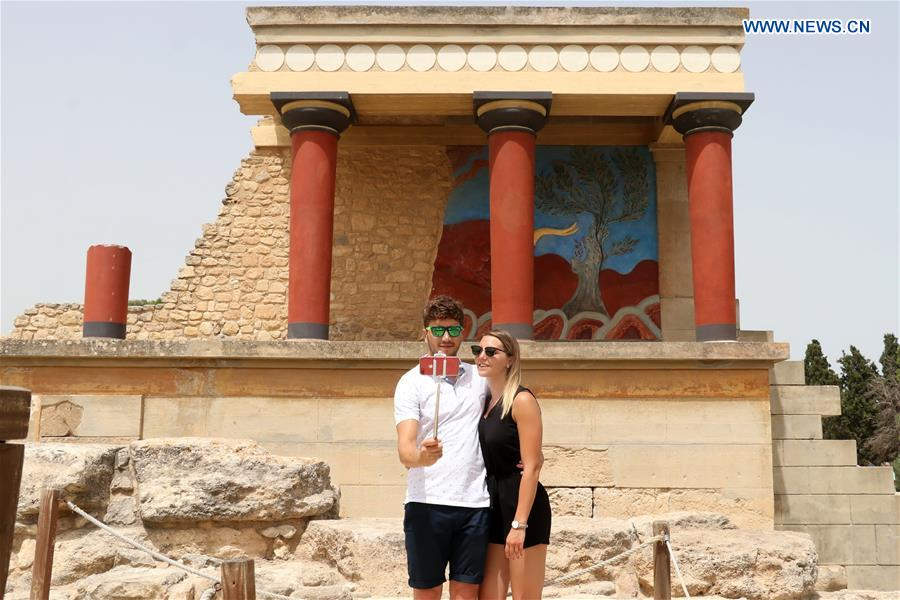 In pics: archaeological site Palace of Knossos in Heraklion, Greece