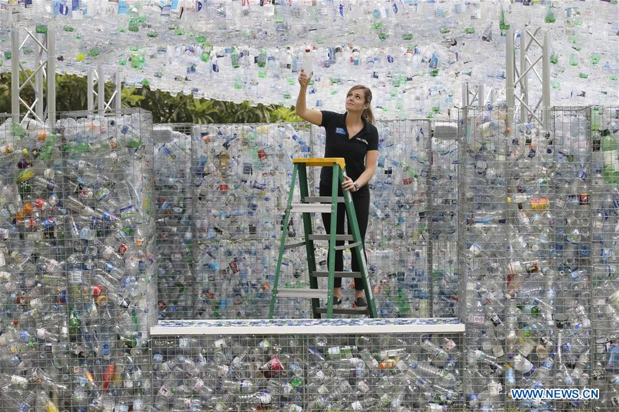 Art installation highlights problem of plastic pollution at ZSL London Zoo